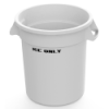 "10 Gallon White Ice Bucket with ""Ice Only"" Logo"