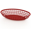 Red Oval Food Baskets