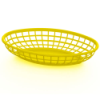 Yellow Oval Food Baskets