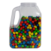 128 oz. Multi-Use Clear PVC Container with Handle & 89mm Neck (Cap Sold Separately)