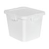 55 Dram White Polypropylene Cube Child-Resistant Container