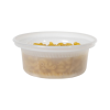 8 oz. Natural Polypropylene X-Line Round Freezer Grade Container