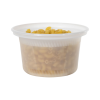 12 oz. Natural Polypropylene X-Line Round Freezer Grade Container