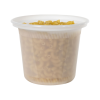 16 oz. Natural Polypropylene X-Line Round Freezer Grade Container