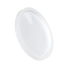 White LLDPE L410 Round Recessed Lid