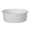 8 oz. White Polypropylene Z-Line Round Container