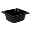 1.1 Quart Black Polycarbonate High Temperature 1/6 Food Pan