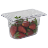0.9 Quart Clear Polycarbonate Low Temperature 1/9 Food Pan (Cover Sold Separately)
