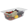 3.6 Quart Clear Polycarbonate Low Temperature 1/3 Food Pan (Cover Sold Separately)