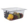 8.6 Quart Clear Polycarbonate Low Temperature 1/2 Food Pan (Cover Sold Separately)