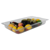 8.8 Quart Clear Polycarbonate Low Temperature Full Food Pan (Cover Sold Separately)