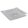 Clear 1/6 Food Pan Slot Cover for Spoon