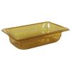 1.8 Quart Amber Polycarbonate High Temperature 1/4 Food Pan