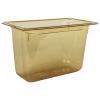 6.8 Quart Amber Polycarbonate High Temperature 1/3 Food Pan