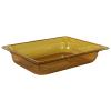 3.9 Quart Amber Polycarbonate High Temperature 1/2 Food Pan