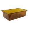 20.2 Quart Amber Polycarbonate High Temperature Full Food Pan