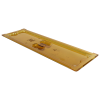 Amber 1/2 Long Food Pan Solid Cover with Molded Handle