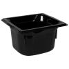1.6 Quart Black Polycarbonate High Temperature 1/6 Food Pan
