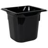 2.2 Quart Black Polycarbonate High Temperature 1/6 Food Pan