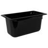 5.3 Quart Black Polycarbonate High Temperature 1/3 Food Pan
