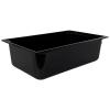 20.2 Quart Black Polycarbonate High Temperature Full Food Pan