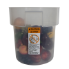 18 Quart Translucent Polypropylene Bain Marie with Handles (Lid Sold Separately)