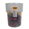 22 Quart Translucent Polypropylene Bain Marie with Handles (Lid Sold Separately)