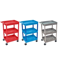 Luxor Tub Cart - 3 Shelf (300 lbs. Capacity)