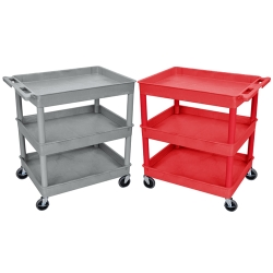 Luxor Tub Carts - 3 Shelf (400 lbs. Capacity)