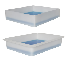 Shallow One-Piece Polyethylene Molded Trays