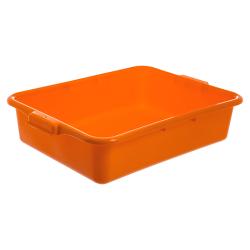 "Orange Comfort Curve™ Tote/Bus Box - 20"" L x 15"" W x 5"" Hgt."