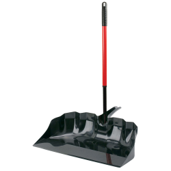 "22"" Black/Red Libman® Outdoor/Shop Scoop with Handle"