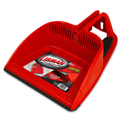 "12"" Red Libman® Heavy Duty Step-on Dust Pan"