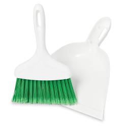 """10"""" White Libman® Dust Pan & Whisk Broom"""