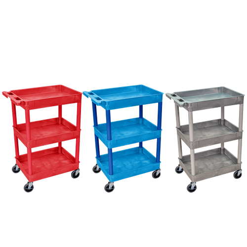 Tub Cart - 3 Shelf (300 lbs. Capacity)