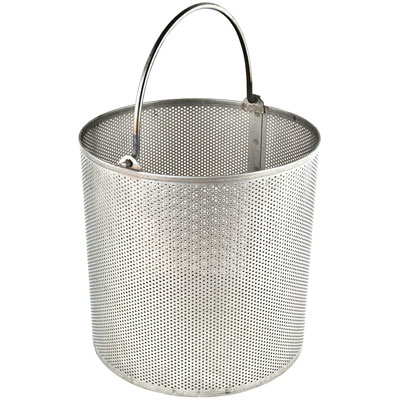 "Stainless Steel Dipping Basket 3/32"" Holes on 3/16"" Centers"