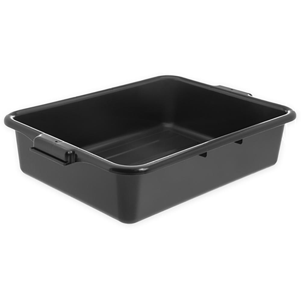 """Black Comfort Curve™ Tote/Bus Box - 20"""" L x 15"""" W x 5"""" Hgt."""