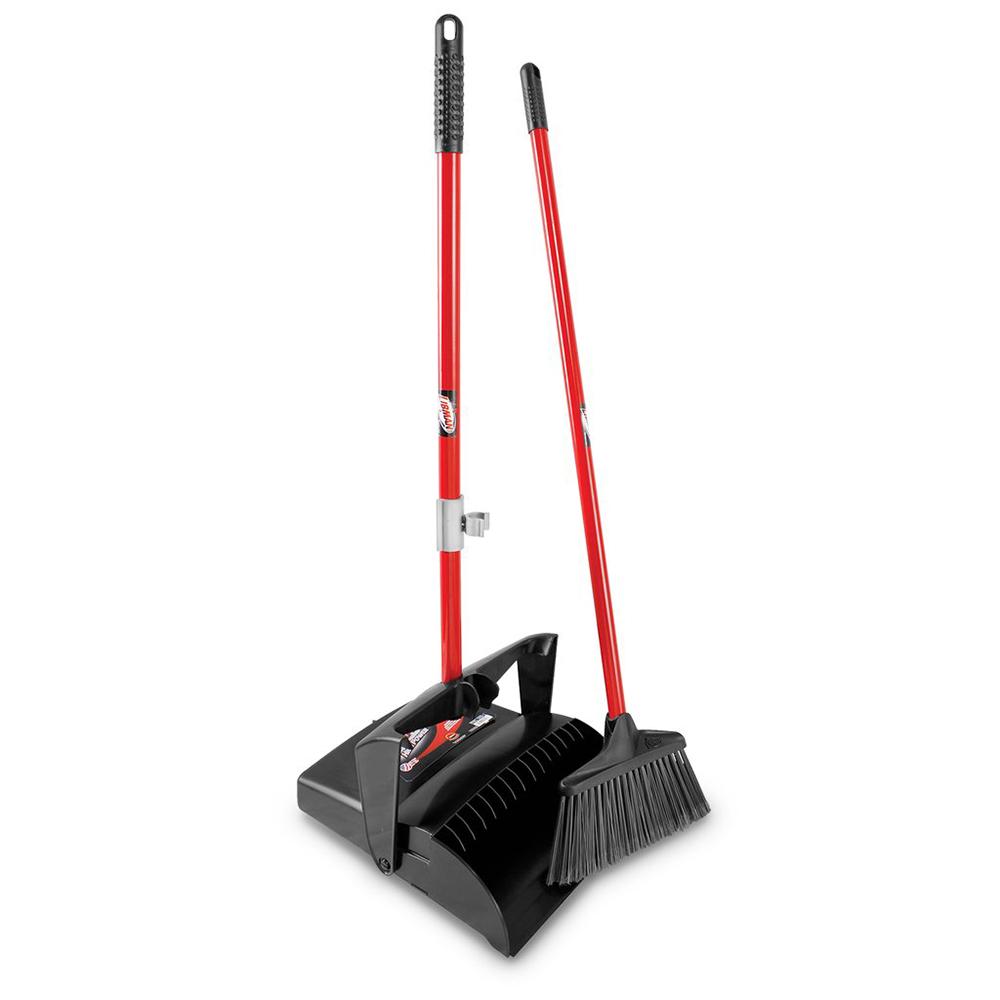 """12"""" Libman® Lobby Dust Pan & Broom Set - Open Lid"""