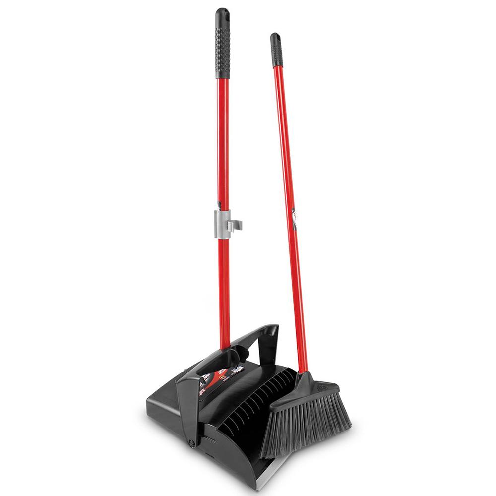 """12"""" Libman® Premium Lobby Dust Pan & Broom Set - Open Lid"""
