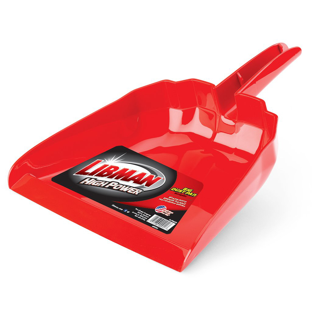 "13"" Red Libman® Dust Pan"