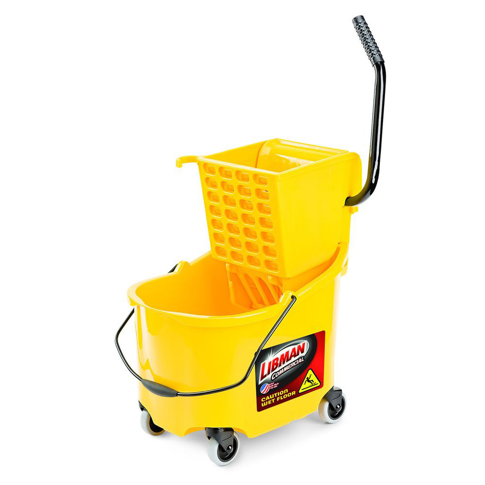 32 Quart Yellow Libman Mop Bucket with Side Press Wringer