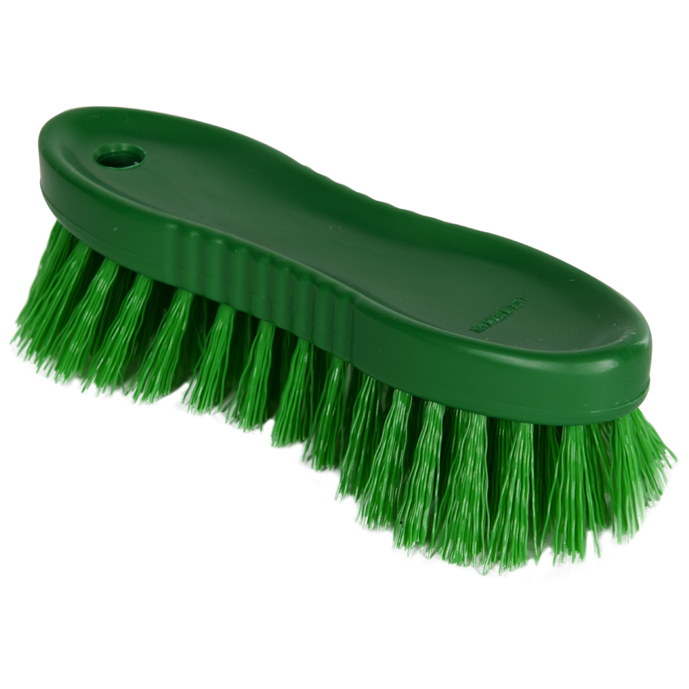 "Green ColorCore 6"" Stiff Hand Brush"