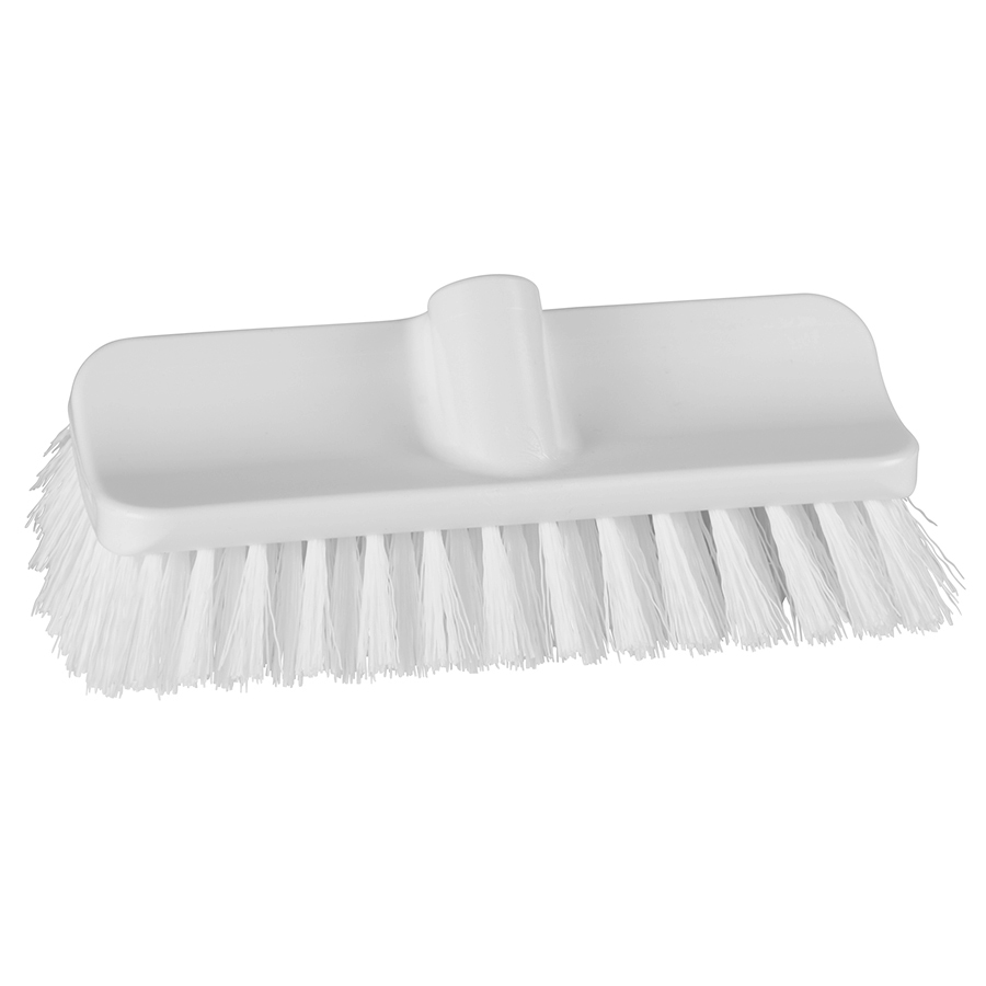 "10"" ColorCore White High-Low Stiff Deck Brush"