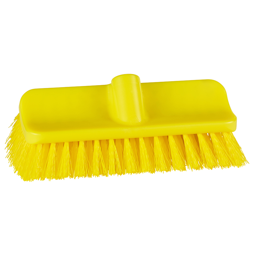 """10"""" ColorCore Yellow High-Low Stiff Deck Brush"""