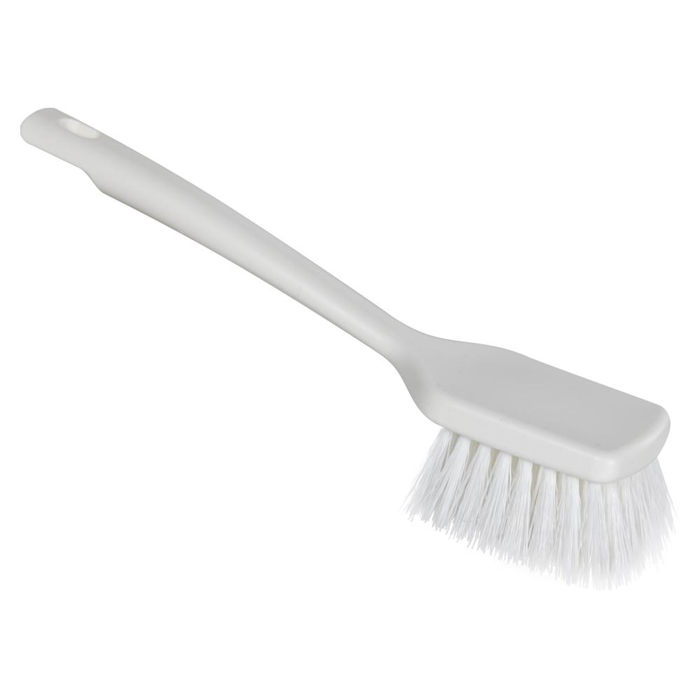 "ColorCore White 12"" Short Handle Scrub Brush"