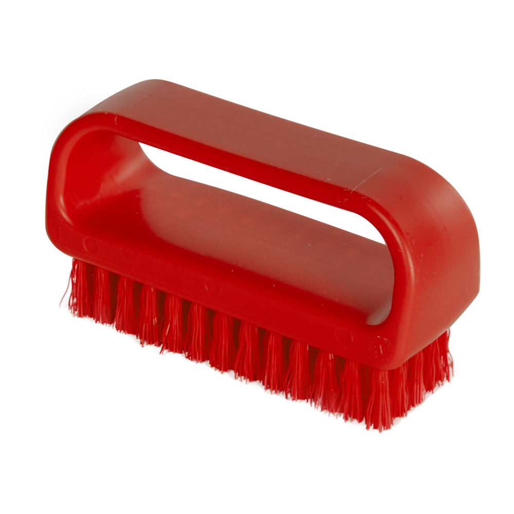 "ColorCore Red 4"" Medium Nail Brush"