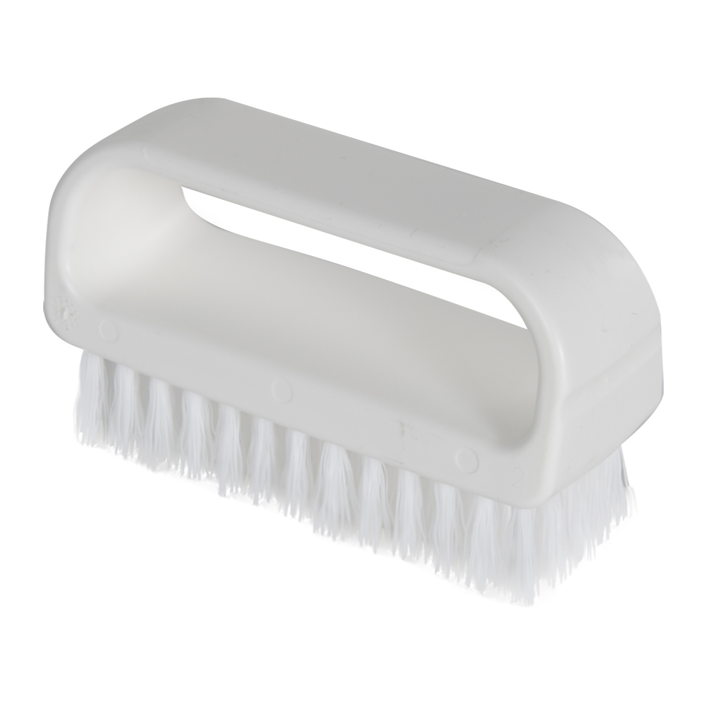 "ColorCore White 4"" Medium Nail Brush"