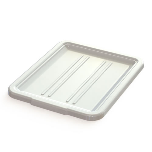 "5"" & 7"" White Bus Box Lid - 21-1/4"" L x 17-1/4"" W x 1-1/2"" H"
