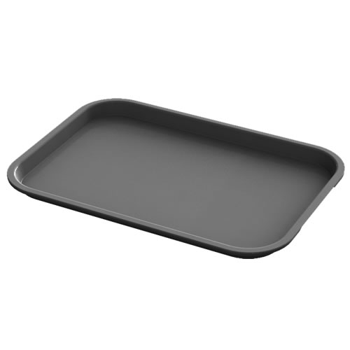 "10"" x 14"" Gray Food Service Tray"