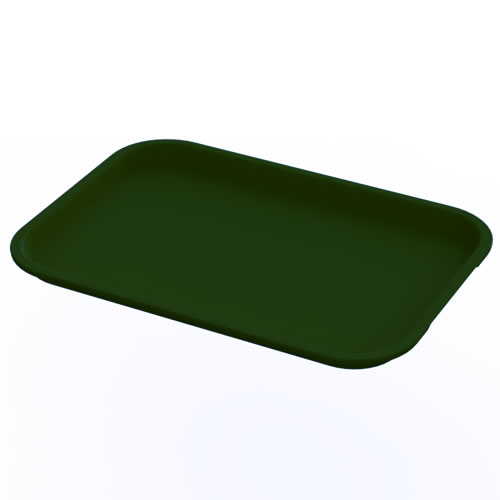 "12"" x 16"" Green Food Service Tray"